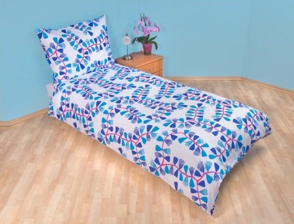 bavlněné ložní povlečení Drak v modré barvě